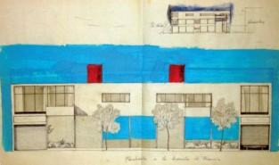 Casa Vacía Alzado Vallet-Oteiza